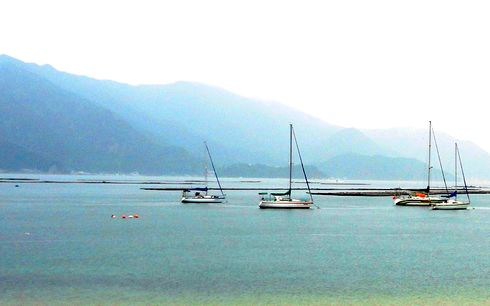 ビーチ長浜(長浜海岸) 、江田島の夏のレジャースポットで