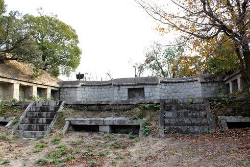 広島県 うさぎ島に残る砲台跡