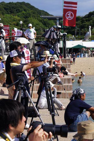 水軍祭りのカメラマン