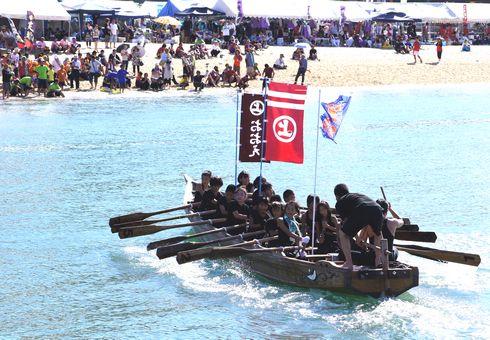 因島水軍祭り・海まつり 小早レース 小学生たち