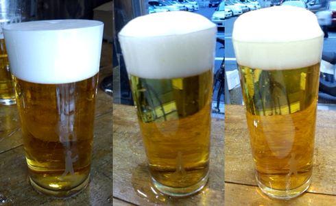 ビールスタンド重富(重富酒店)、昭和初期のビールサーバー 注ぎ方で一味違う生ビールを