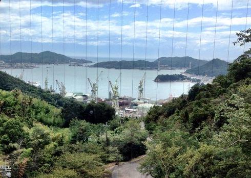 ホテルいんのしま から見下ろせる景色の画像