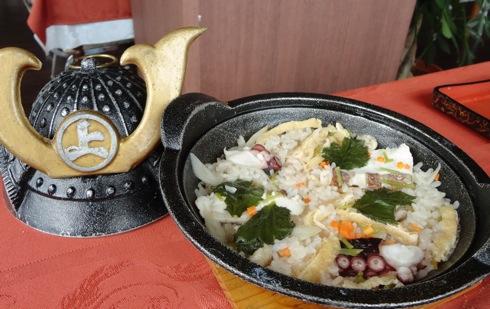 ホテルいんのしま 水軍釜飯定食の釜飯画像