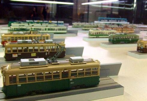 広島市交通科学館 広電 電車模型