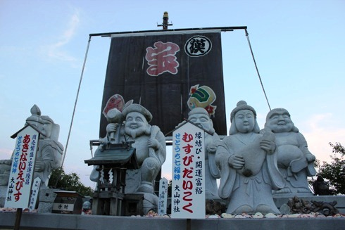 因島 大山神社の中 七福神
