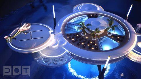 ドバイの海中ホテル ウォーター・ディスカス・ホテル (Water Discus Hotel)