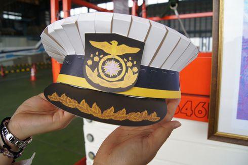 海上保安官 制帽のペーパークラフト 完成写真