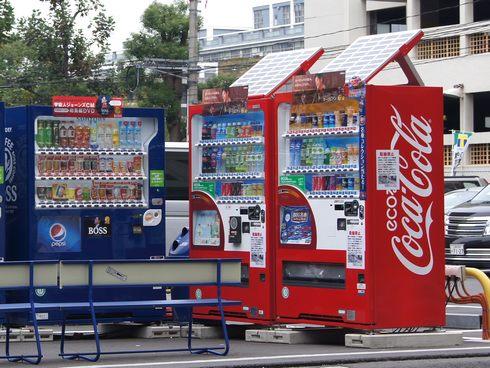コカコーラのエコ自動販売機 ecoる