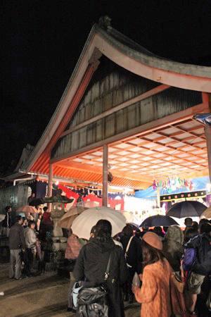 大頭神社 祭りの前夜祭にある 神楽の奉納