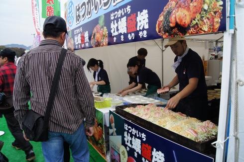 広島てっぱんグランプリ お好み焼きブースの様子4