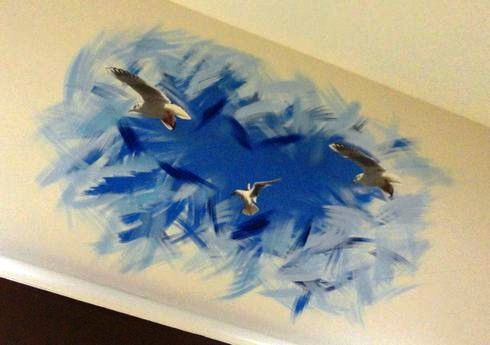階段でトリックアート 「ドンキKAIDAN美術館」、ドンキホーテ広島八丁堀店4