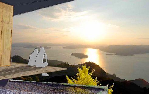 宮島・弥山の展望台、いよいよ建替え工事スタート