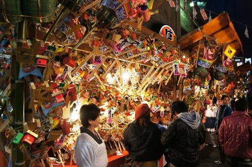 胡子大祭 2012 こまざらえ販売露店の様子
