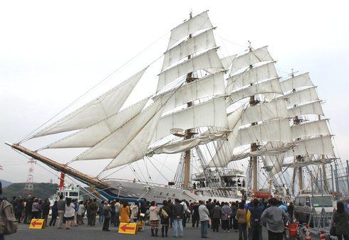帆船 日本丸のセイルドリル 画像2