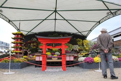 広島城 大菊花展 テーマは安芸の宮島