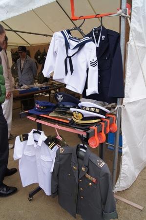 海田の 自衛隊ミニ制服撮影コーナー