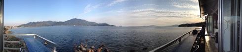 海と料理miya からの景色 パノラマ画像