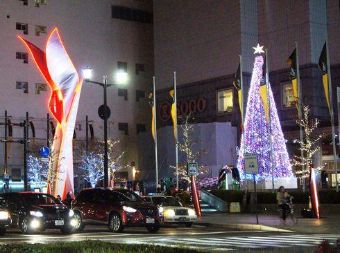 広島 基町クレド パセーラのクリスマスイルミネーション 2012