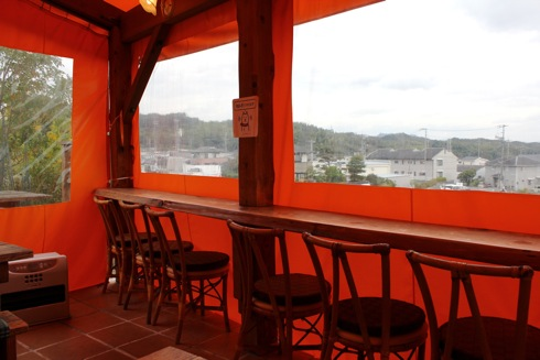 廿日市市 フェルダーシェフ 店内カフェスペース