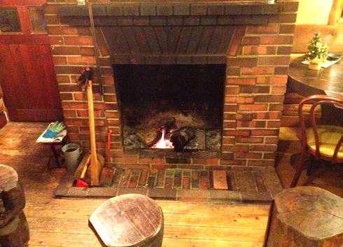 カフェテラス北山 暖炉の画像
