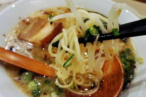 竹原市のラーメン 誠家らぁーめんの麺