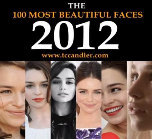 2012年 世界で最も美しい顔100人 一覧発表