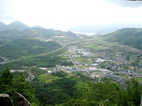 白滝山 五百羅漢 頂上からの風景2