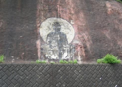 白滝山 五百羅漢 駐車場の壁画
