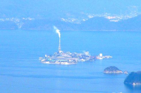 上空から見た 契島(ちぎりじま)