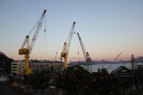 映画 東京家族のロケ地 木江地区の造船所