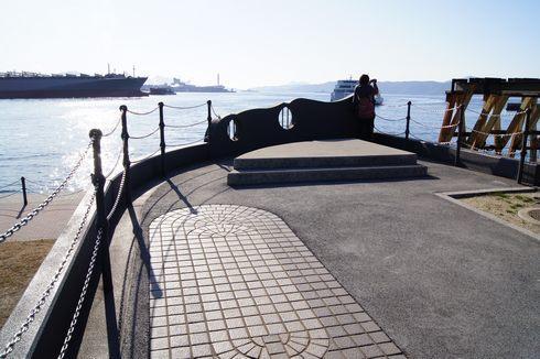 大和波止場公園の船首からの景色