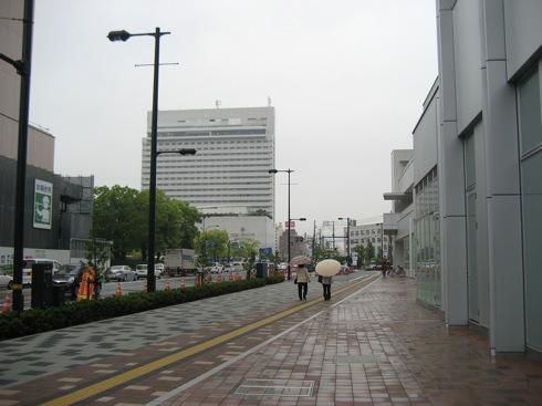 広島駅前 北口の様子