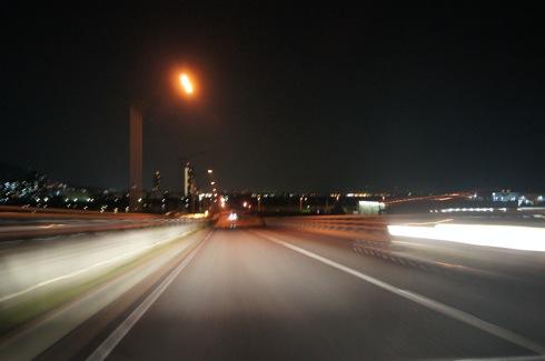 広島はつかいち大橋 夜の写真2