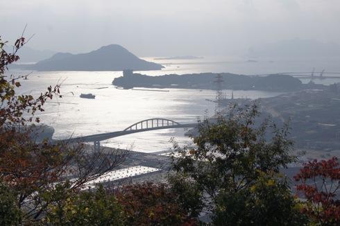 広島 黄金山からの 海の景色