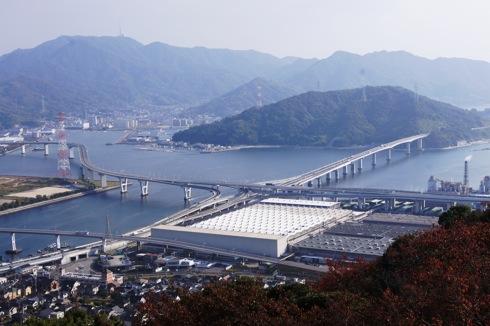 広島 黄金山 展望台からの海の様子