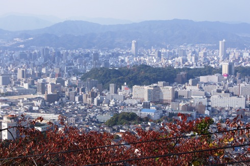 広島 黄金山の 展望台からの眺め2