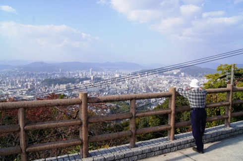 広島 黄金山の展望台からの眺め