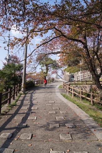 広島 黄金山 展望台までの道