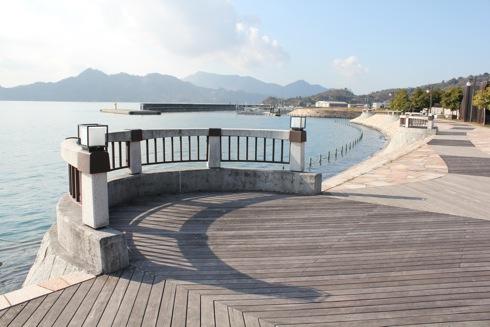 沖浦港おさかな公園、海の駅にあるお散歩スポット