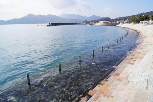 沖浦港おさかな公園 海辺