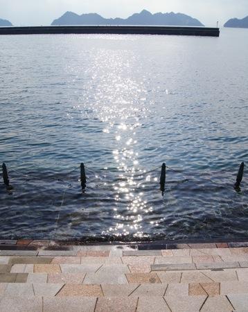 沖浦港おさかな公園 海を眺める