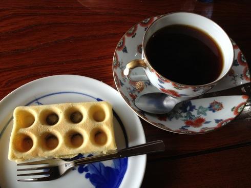 喫茶ぽれぽれ ワッフルSセット