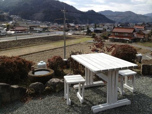 喫茶ぽれぽれ からの田園風景