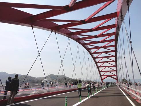 第二音戸大橋(日招き大橋) ウォーキングイベントの様子2
