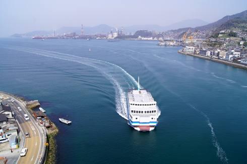 第二音戸大橋(日招き大橋) から見る呉市内の風景
