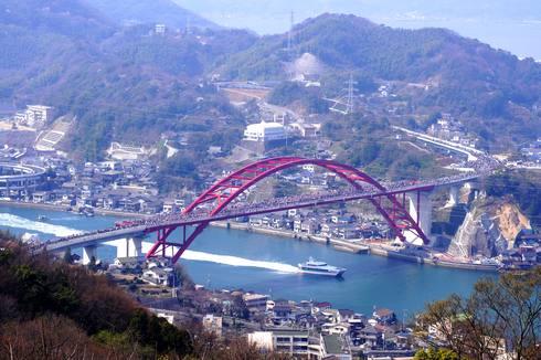 第二音戸大橋(日招き大橋) 全景写真
