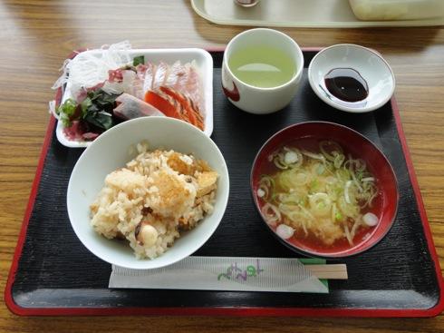 江田島 海辺の海鮮市場 刺身定食