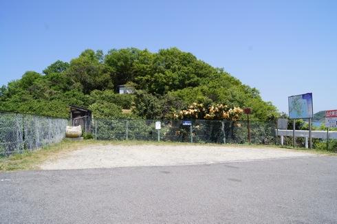 因島 地蔵鼻の駐車スペース