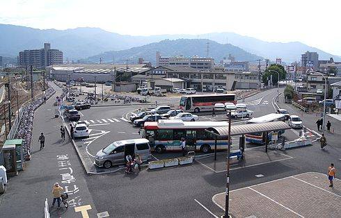 海田市駅 ロータリー
