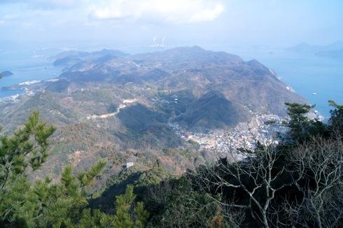 大崎上島 神峰山からの島の風景